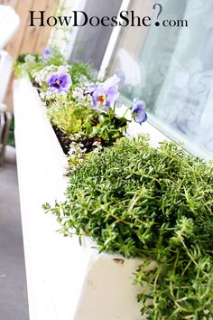 Make her a window box for Mother's Day! Here's simple tutorial...the supplies cost less than 4 dollars...