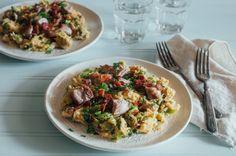 Spaghetti Squash Carbonara (Paleo, Low FODMAP, AIP Reintroduction, Whole30)