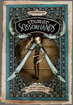 "Image © Benjamin Lacomb ""Edward Scissorhands Freak poster"", 2011"