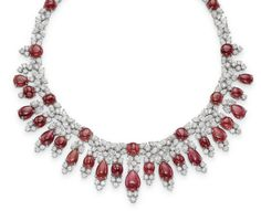 Christie's Magnificent Jewels, Geneva, 18 May, 2016 A RUBY AND DIAMOND NECKLACE, BY BULGARI ESTIMATE CHF150,000 - CHF200,000