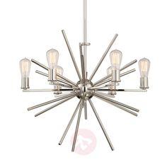 6-punktowy żyrandol Carnegie   Lampy.pl Manhattan New York, Led Röhren, Led Lamp, Chandelier, Ceiling Lights, Lighting, Home Decor, Products, Cluster Pendant Light