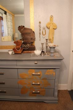 Beautiful painted Dresser.