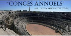 """""""Congés annuels"""" – A badly-timed visit to Nîmes – The adventures of Daisy the bus"""