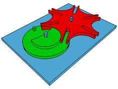 Uma galeria de imagens animadas mostrando o funcionamento de certos motores. ENGRENAGENS CRUZ DE MALTA.