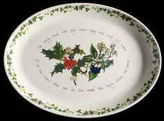 """Portmeirion The Holly and The Ivy 20"""" Oval Serving Platter"""