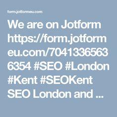 We are on Jotform form.jotformeu.co... #SEO #London #Kent #SEOKent SEO London and SEO Kent from SEO Kent. SEO Kent offer search engine optimisation and Internet marketing services in Kent & London. SEO Kent 4 Keswick Avenue Sittingbourne Kent ME10 3AU 01795 342068 info@seokent.net seokent.net