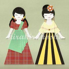 FILIPINO GIRL in Balintawak and Maria Clara dress by kirakirahoshi, $11.20
