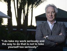 """Dᴏɴ'ᴛ. Lɪᴇ. Tᴏ ᴍᴇ."", mashable:  Inspiring Alan Rickman quotes that will..."