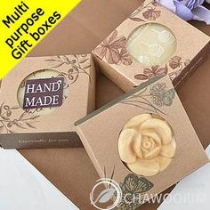 Multi-purpose Gift Boxes Soap,Tarts,Cookie Packaging 30Boxes Kraft Circle CutOut | eBay