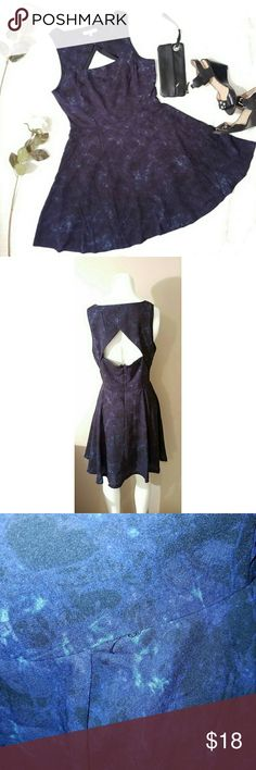 BBQ Dakota Dress Adorable double keyhole dress by BBC Dakota. Dress is a very dark blue color, with hues of purple & black. Cute special occasion dress. A few loose threads at the waist. See pics. Size 8. Dresses