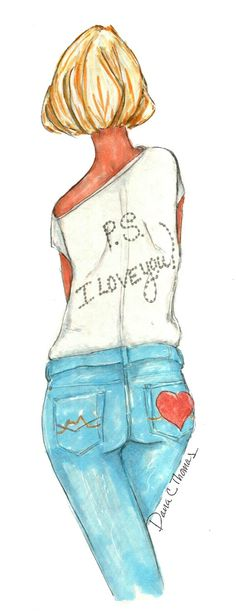 Items similar to Fashion Illustration- P. I Love You on Etsy Ps I Love You, My Love, Lunch Time, Doodles, Trending Outfits, Illustration, Cloud, Etsy, Fashion