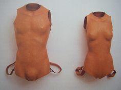 """javier Perez """"Barocco,1996, Sacs à dos anatomiques 1994"""