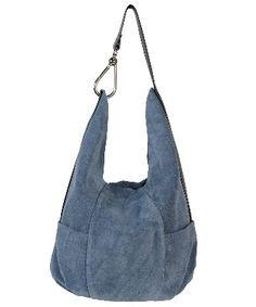 5c2351baa94e Owen Barry Blue Jeans Suede Asquith Slouch Shoulder Bag