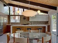 Kitchen features oversized island counter, great for entertaining