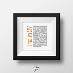 Psalm 27 Square Format Entire Psalm Bible verse Christian
