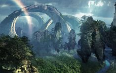More famously known as the floating mountains of Pandora in the blockbuster Avatar, the Southern Sky Column in ZhangJiaJie National Forest Park, China is . Fantasy Hd, Fantasy World, High Fantasy, Fantasy Art Landscapes, Fantasy Landscape, Landscape Wallpaper, Nature Wallpaper, Wallpaper Desktop, Avatar Film