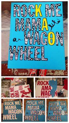 Kappa Alpha Theta | sorority craft | Rock Me Mama like a Wagon Wheel