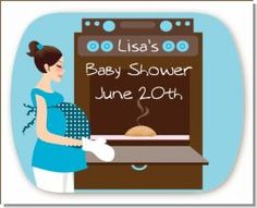 LOVE the Bun in the Oven theme for a Baby Shower! I wonder if this can be done in purple or green?