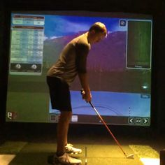 Indoor practice at the house.. 3 iron working on getting things consistent for week one in Maui