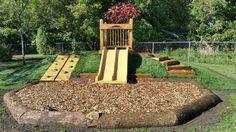 Natural Playgrounds – Active Playground Equipment Inc. Toddler Playground, Diy Playground, Playground Design, Natural Outdoor Playground, Natural Play Spaces, Outdoor Play Spaces, Backyard Play Spaces, Kid Friendly Backyard, Backyard For Kids