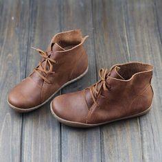 Chaussures à la main bottines derbies femme chaussures