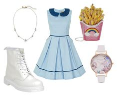 """""""Doll House"""" by danielatapia-i on Polyvore featuring Dr. Martens, Judith Leiber and Olivia Burton"""