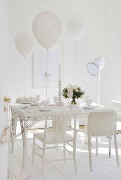 All white party decor