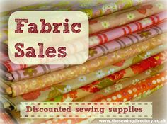 Online winter fabric sales (UK) now added find lots of bargains, up to 70% off in some places!