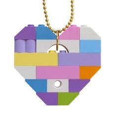 Kawaii Pastel necklace - Chunky heart pendant - made from LEGO® bricks on a Silver/Gold plated ballchain - Fairy Kei - Sweet Lolita - Eskerme Conke Weird Jewelry, Girls Jewelry, Bff Gifts, Kawaii Shop, Lego Brick, Ball Chain, Swarovski Crystals, Creations, Etsy Shop