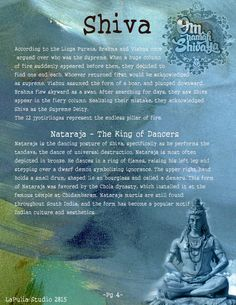 Book of Shadows:  #BOS Part 1 ~ Shiva and Shakti page 4.