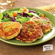 Cheesy Potato Pancakes with Sausage from Hungry Jack®