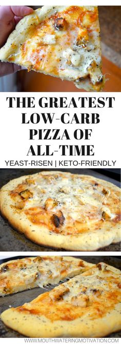 keto recipes BEST EVER delicious low carb pizza made with yeast! This is the CLOSEST you will get with a keto-friendly low carb pizza crust! Ketogenic Recipes, Low Carb Recipes, Diet Recipes, Cooking Recipes, Pescatarian Recipes, Cooking Games, Cooking Classes, Smoothie Recipes, Coconut Flour