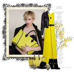 Michelle Williams for Louis Vuitton by elegancerules on Polyvore featuring Rosie Assoulin, Yves Saint Laurent, Emilio Pucci, DANNIJO, Marni, Irene Neuwirth, rag & bone, Prada, Peter Lang and Louis Vuitton