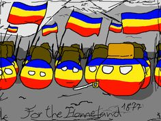 For the Homeland - Polandballart Flag Art, Comic Pictures, What Goes On, Homeland, Romania, Balls, Artsy, Humor, Country
