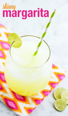 Whip up this scrumptious low-calorie margarita recipe for happy hour!