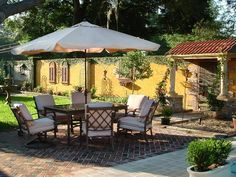 Tuscan-Style Backyard: HGTV's Luxury Outdoor Spaces on a Budget >> http://www.hgtv.com/outdoor-rooms/luxury-outdoor-spaces-for-less/pictures/index.html?soc=pinterest