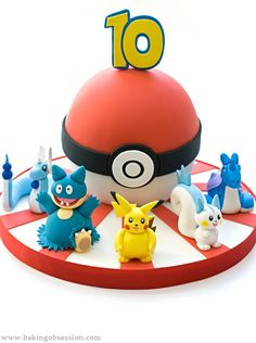Pokemon cake yummmmmmmmm I'm going to stick a + 3 on top of the ten and use this