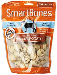 SmartBones Sweet Potato Dog Chew, Mini, 24-count   Your #1 Source for Pet Supplies