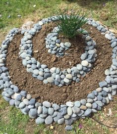 My husband built an herb spiral! I cant wait to fill it up! - My husband built an herb spiral! I cant wait to fill it up! Garden Inspiration, Spiral Garden, Landscaping With Rocks, Outdoor Herb Garden, Herb Garden Design, Herb Spiral, Garden Design, Rock Garden Design, Garden Projects