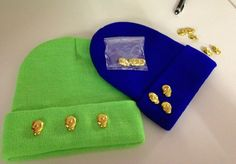et them now with skull studs DIY 14.- CHF beanie incl. 3 skull studs  free size