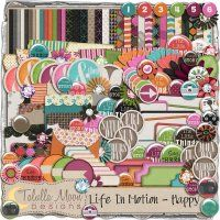 Life In Motion - Happy by Tallula Moon Designs at Digital Scrapbook Pages