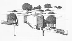 """Pit Dwellings of Henan Provence, China. Source:Gideon Golany;""""Chinese Earth-Sheltered Dwellings: Indigenous Lessons for Modern Urban Design"""""""