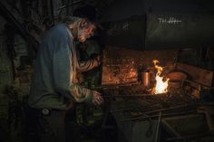 Blacksmith by Ron Gessel, via Behance