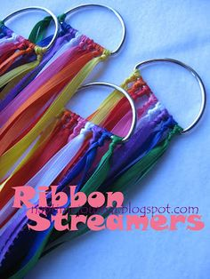 Nap Time Journal: Ribbon Streamers: A Homemade Christmas, Diy Abschnitt, Vbs Crafts, Church Crafts, Crafts For Kids, Shoebox Crafts, Geek Crafts, Worship Dance, Praise Dance, Homemade Christmas, Kids Christmas