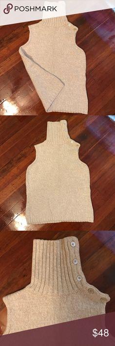 Ivory Sleeveless Turtleneck Sweater Ivory Sleeveless Turtleneck Sweater GAP Sweaters Cowl & Turtlenecks