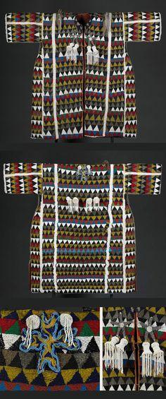 Africa   Beaded tunic ~ 'Agbada Ileke' ~ from the Yoruba people of Nigeria   ca. 19th century