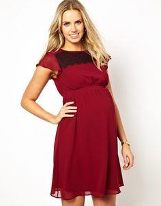 Image 1 ofKate Thomas Maternity Dress With Eyelash Lace