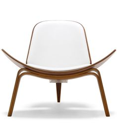 [Hans Wegner CH07 Shell Chair] white leather