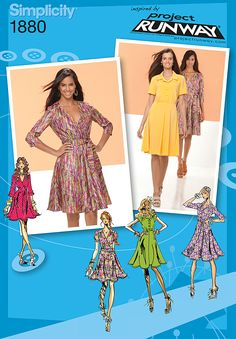 Simplicity Creative Group - Misses' Dresses Project Runway Collection; simplicity 1880