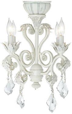 Rubbed White Chandelier Ceiling Fan Light Kit - lamps plus Ceiling Fan Chandelier, White Ceiling Fan, White Chandelier, Bronze Chandelier, Ceiling Lights, Chandeliers, Closet Chandelier, Unique Ceiling Fans, Fan Light Kits